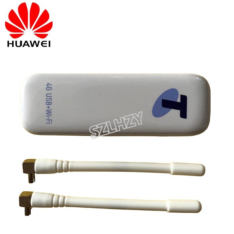 Débloqué Huawei E8278s-602 USB 4G Modem Wifi 150Mbps 4G LTE Mifi Routeur 4G avec 2 pièces Antenne pk e8372h-153 e8372h-608