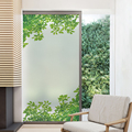 Window Film Privacy Adhesive Film Wall Stickers Self-Adhesive Bathroom Decor Adhesive Vinyl Rural Decoration