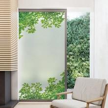 Window Film Privacy Adhesive Film Wall Stickers Self-Adhesive Bathroom Decor Adhesive Vinyl Rural Decoration