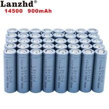 (8-40pcs)li-ion 14500 900mAh 3.7V Li-ion Rechargeable Batteries AA Battery Lithium Cell for Led Flashlight Headlamps Torch Mouse 2 4pcs unitek 3 7v 18500 battery 1800mah rechargeable li ion lithium ion cell with welding tabs pins for led torch flashlight