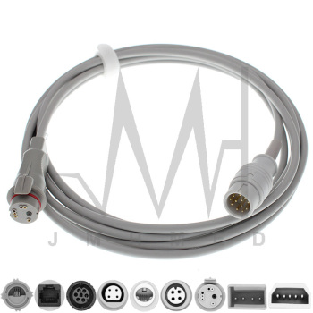 Compatible with Comen C60 Monitor,12P to Argon/Edward/Medex/Abbott/Smith/PVB/Utah Pressure Transducers of IBP Adapter Cable image