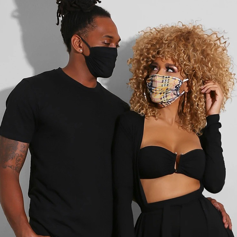 Black White Men Cotton Reusable Adult Mask For Woman Man 2020 Fashion Breath Valve Mouth Masks Protective Dustproof Mouth Mask