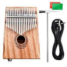 17 клавиш эквалайзера калимба из красного дерева большого пальца пианино ссылка динамик электрический датчик сумка+ кабель горячие музыкальные инструменты профессиональный