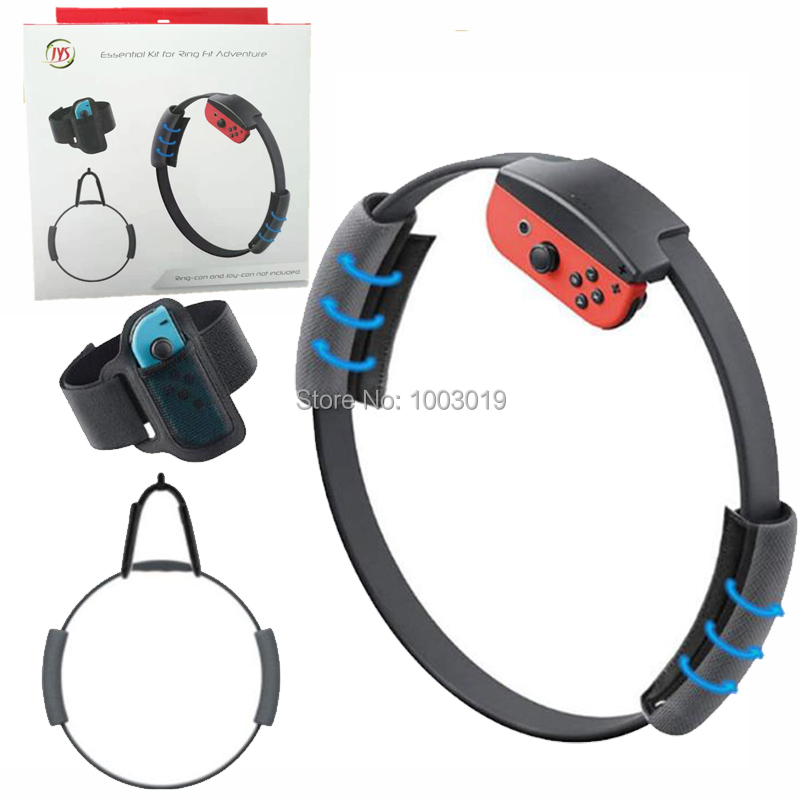 Adjustable Elastic Leg Fixing Strap Sport Band+Non-Slip Ring-Con Grips+ Ring Hook For Nintendo Switch Ring Fit Adventure Game