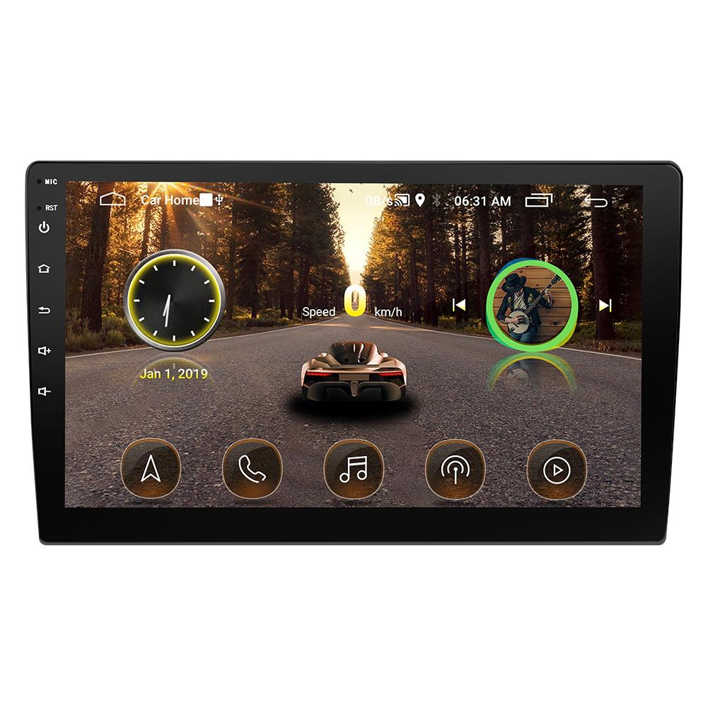 9/10. 1 Inch Autoradio Android 8.1 HD Touch Screen Bluetooth GPS Navigatie WIFI Internet Access Multi Functionele Radio & camera - 2