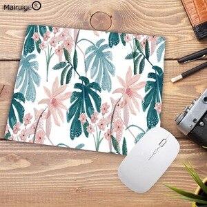 Image 2 - Mairuige tapis de souris pour Gamer, motif Tropical, feuilles et fleurs, pour clavier de bureau, tablette, pour ordinateur, jeu Lol, Csgo