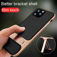 For iPhone 11 Pro Max X XS XR Case For 6 6s 7 8 Plus Cover PC + Silicon Hybird Support Stand Phone Capa Funda Protection Coque