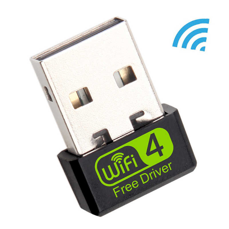 Mini adaptador usb wifi 150mbps, adaptador wi-fi para pc, usb, ethernet, wifi, dongle 2.4g, placa de rede, antena wi-fi receptor fi