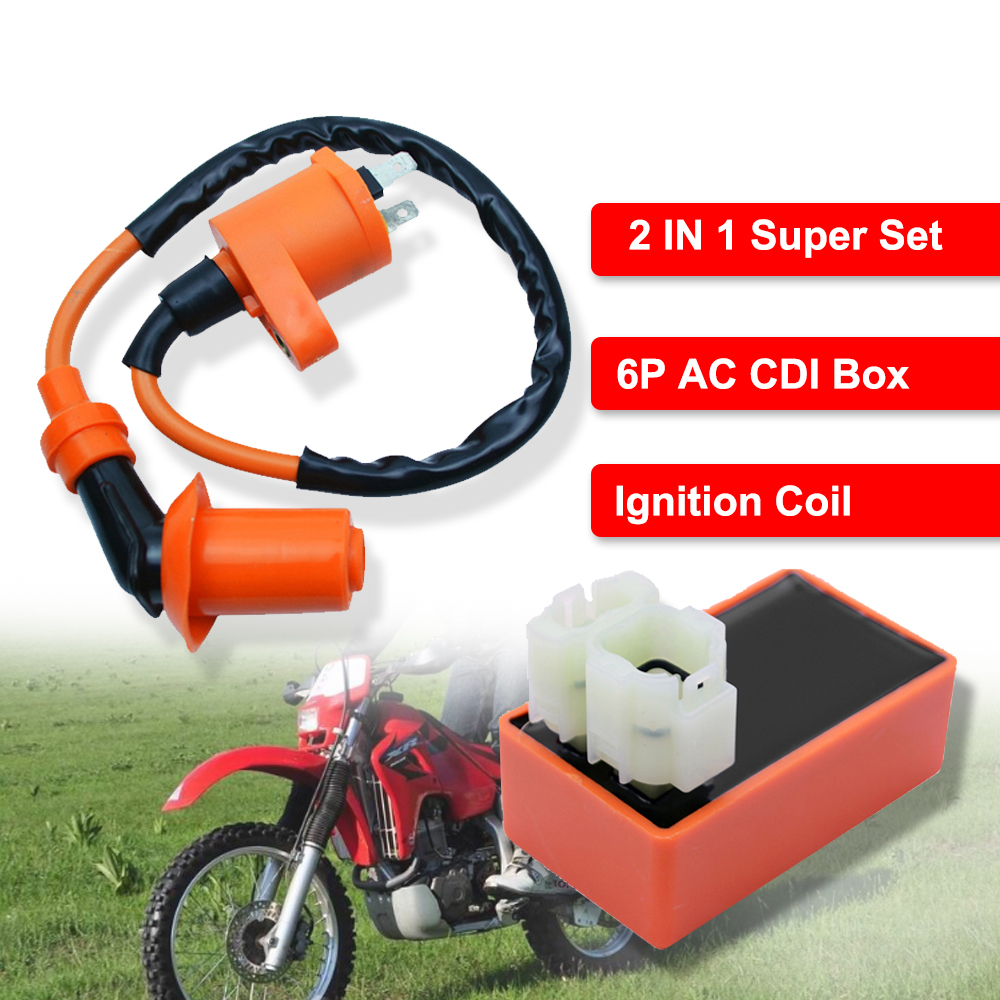 Racing Ignition Coil CDI Box for 49cc 50cc 125cc 150cc ATV Dirt Bike Scooter