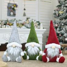 Ручная работа, шведская мягкая игрушка, кукла Санта гном, скандинавский томте, скандинавский ниссе, гном, эльфом, домашние украшения, Рождественский Санта# QQ