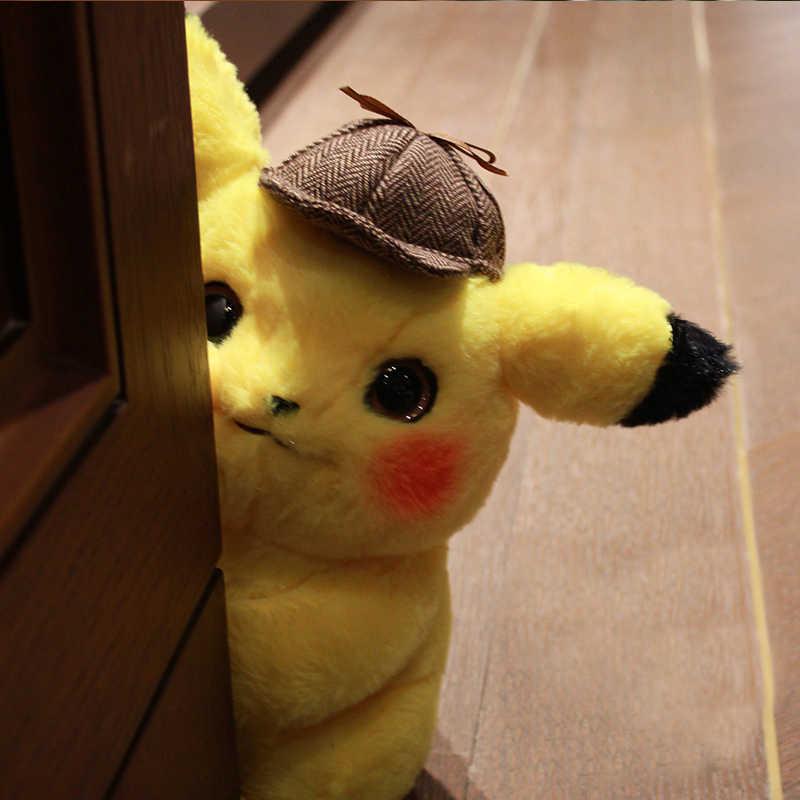 28 センチメートルかわいいピカチュウぬいぐるみぬいぐるみソフト探偵ピカチュウ日本映画アニメ人形子供誕生日クリスマスギフト