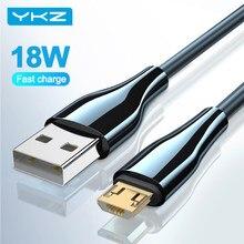 YKZ – câble Micro USB 18W Quick charge QC 3.0, pour recharge rapide, cordon de transfert de données, compatible avec Samsung Xiaomi et Android