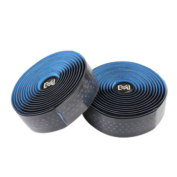 1 Pair PU Leather Breathable Grips Cork Belt Bandage Handle Bicycle Non-Slip Wrap Road Bike Cycling Bar Tape Absorb Sweat