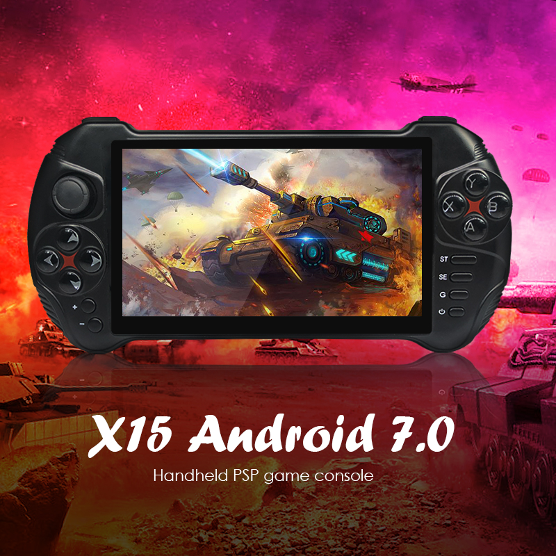 POWKIDDY X15 Portable Handheld Game Console Android 7.0 Quad-Core Bluetooth 4.0 2G RAM 32G ROM Video Gamepad Player image