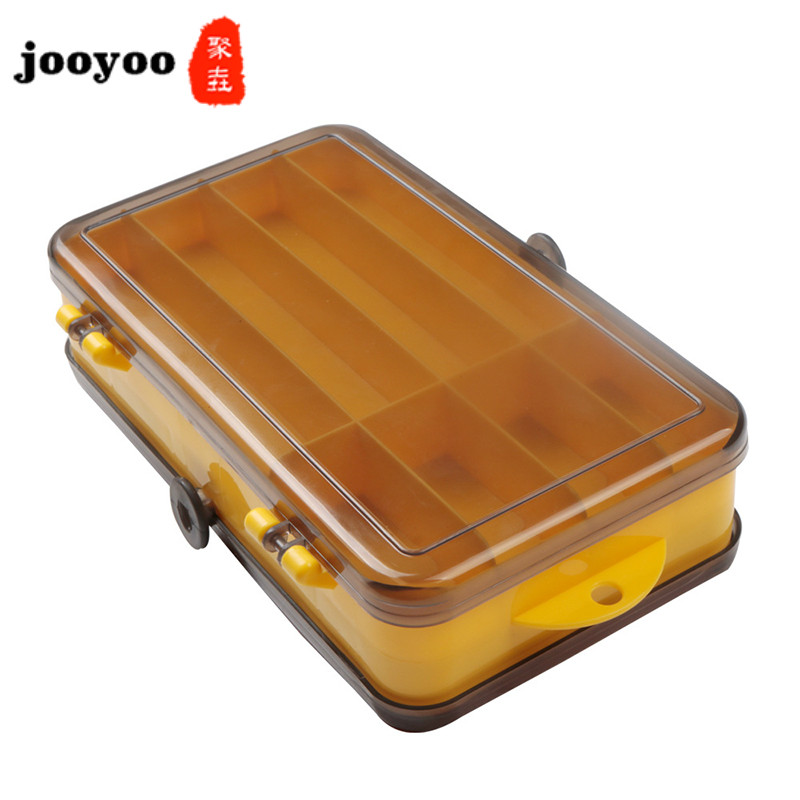 Fishing Tackle Boxes Transparent Plastic Fishing Lure Bait Hook Storage Case Tackle Box 15 Compartments Fishing Accessories