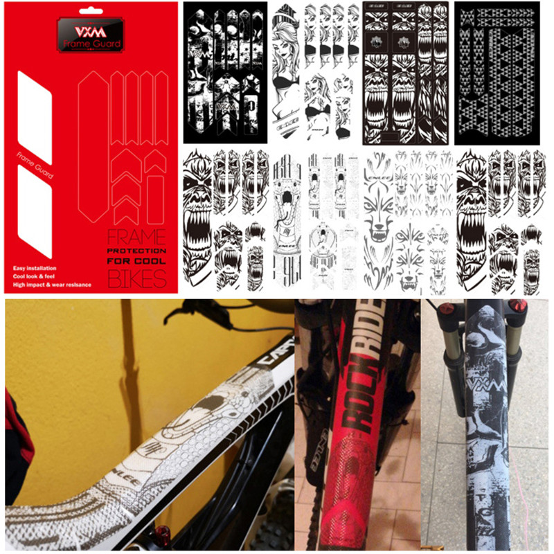 3D MTB Mountain Bike Scratch-Resistant Protect Frame Protector Removeable Sticker Road Bicycle Paster Guard Cover For YT Capra