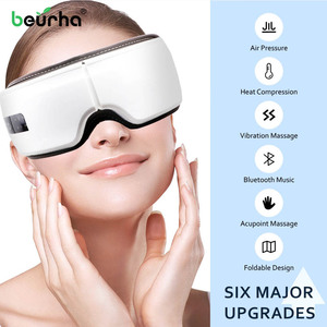 Vibration Smart Eye Massager Bluethooth Rechargeable Eyes Care Device Wrinkle Fatigue Relieve Magnet Therapy Massage