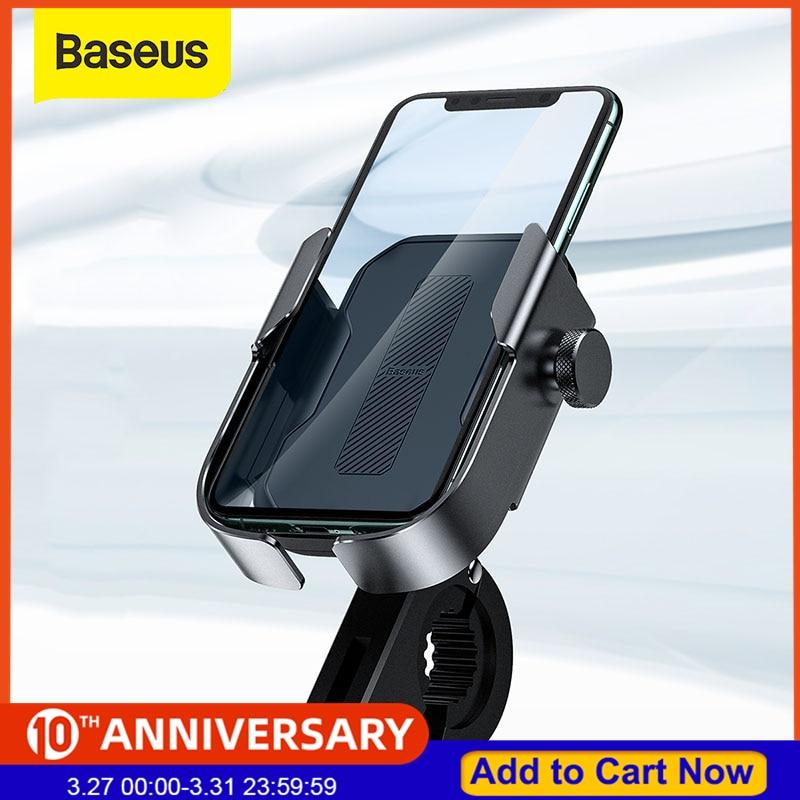Baseus Bicycle Phone Holder Motorcycle Handlebar Support Moto Bicycle Rear View Mirror Stand Mount Motor Bike Phone Holder