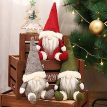 Рождественские украшения Безликие куклы «старый человек» оконные