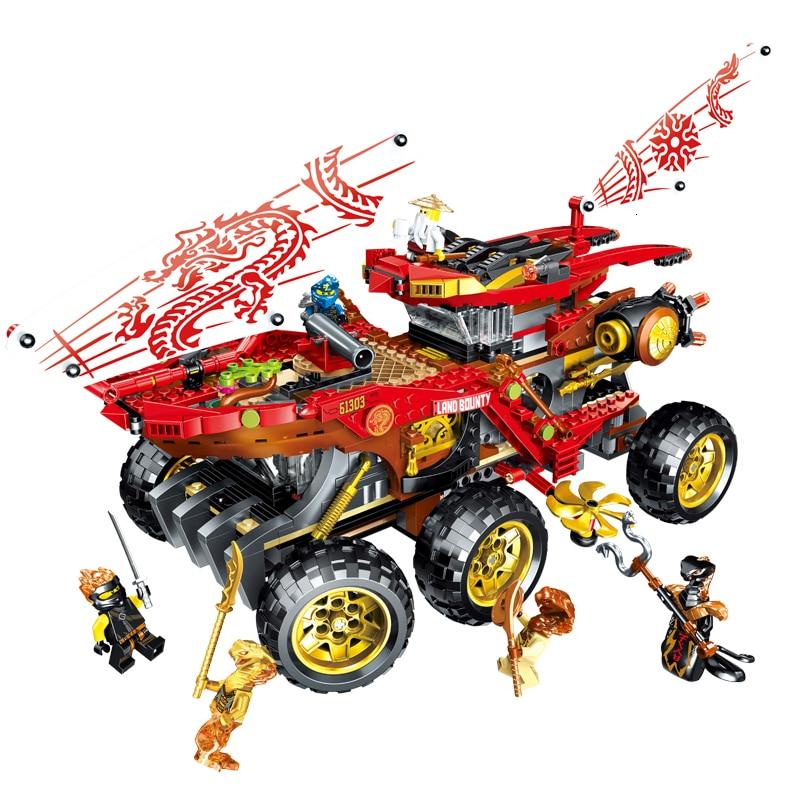 2019 New 858pcs Ninja Reward It Chariot Compatible Legoing NinjagoING 70677 Building Blocks Toys For Children Christmas Gift
