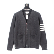 New 2021 Spring/Autumn Unisex Couples V-neck wool cardigan Long Sleeve Casual Coat Solid Color Wool Sweater 1:1 Classic Brand