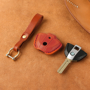Image 2 - עור אמיתי מפתח מקרה Fob כיסוי מחזיקי מפתחות עבור BMW לאטה F800GS C400X R1200GS G310GS אופנוע KeyRing