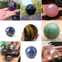Натуральный хрустальный шар полированные очень красивые лечебные