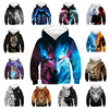 Wolf 3D Kids Hoodies Children's Sweatshirt