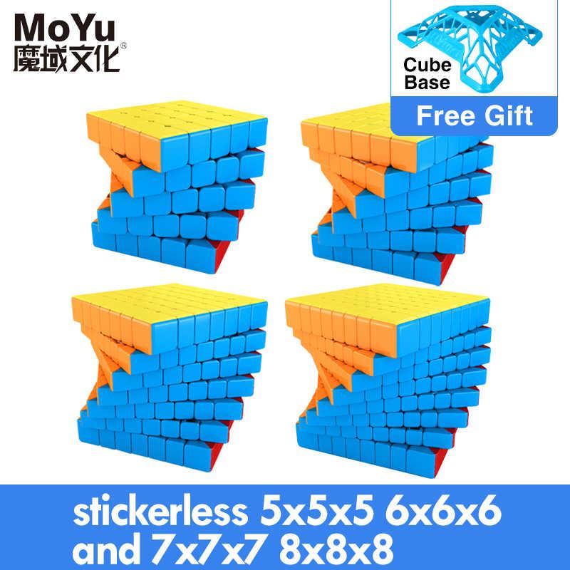 MOYU المكعب السحري المغناطيسي سرعة 7x7 9x9 8x8 مكعب Profissional لونغ Wr M Meilong GTS 3m كيت 6x6 مكعب للأطفال لعب الأولاد لغز