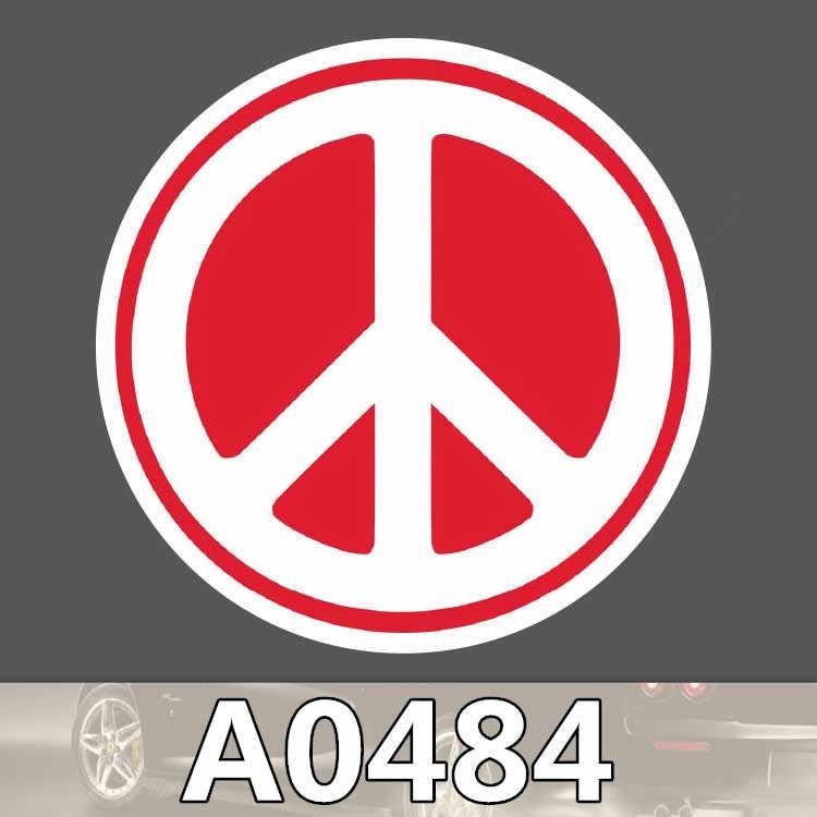 A0240 barış sembolleri etiket işareti logosu karşı savaş su geçirmez bavul dizüstü gitar bagaj kaykay bisiklet oyuncak çocuk çıkartmalar