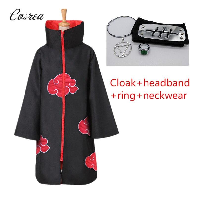 Anime naruto roupas akatsuki manto uchiha itachi shuriken cosplay trajes testa bandana ternos cosplay acessórios