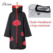 Anime Naruto vestiti Akatsuki mantello Uchiha Itachi Shuriken costumi Cosplay fronte fascia abiti accessori Cosplay