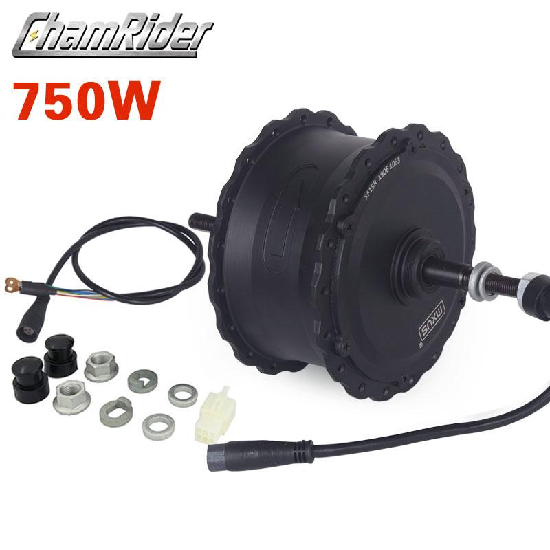 Image 5 - 48V 350W 750W High Speed Brushless Gear Hub Fat Bike Motor E bike  Motor Rear  Wheel Drive for 175 mm 190mmFork MXUS BrandElectric Bicycle Motor   -