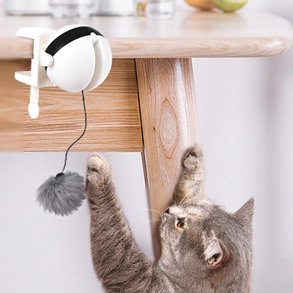 Zabawna zabawka Dla Kota piłka automatyczna łamigłówka stymulująca zabawki Dla kotów interaktywna elektryczna trzepotanie obrotowe podnoszenie Pet Drapak Dla Kota