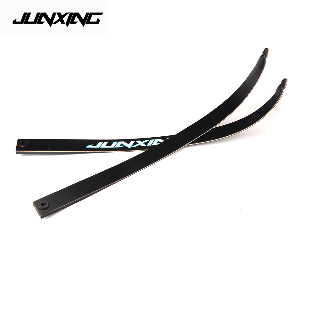 2 Pcs F155 Recurve Bow Limbs 16-40 Lbs Fiberglass Limbs For JUNXING F155 Bow Accessory DIY Bow For Archery Hunting Shooting