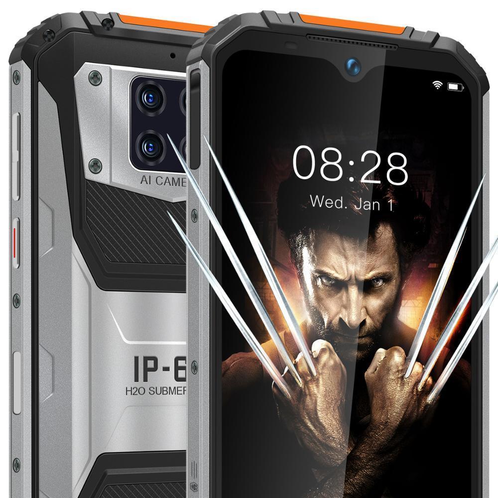 "OUKITEL WP6 10000mAh 6GB RAM 128GB ROM  6.3"" shockproof Mobile Phone MT6771T Octa Core 4G Rugged Smartphone 48MP Triple Camera"