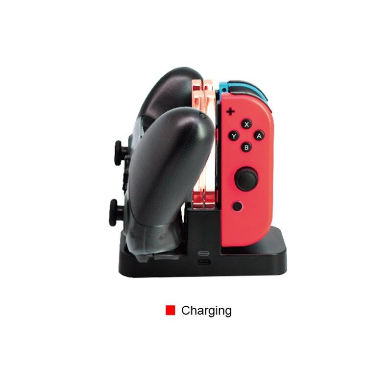 2020 nowy kontroler przełącznika ładowarka stacja dokująca do przełącznika Nintendo Joy.Con ładowarka stacja dokująca ładowarka USB do ładowania LED