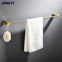 Luxury Bathroom Hardware Set Brushed Gold Brass Towel Rail Rack Bar Shelf Paper Holder Wall Mount Bathroom Accessories все цены