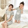 Ночная рубашка с мультяшным кроликом для девочек, детская летняя ночная рубашка, домашняя одежда для маленьких девочек, ночная рубашка для ...