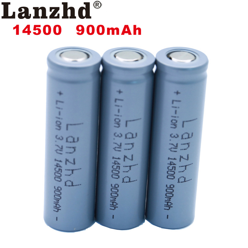 1-8PCS <font><b>14500</b></font> battery 3.7V 900mAh Rechargeable <font><b>Li</b></font>-<font><b>ion</b></font> Battery for LED Flashlight Battery accumulator battery real capacity image