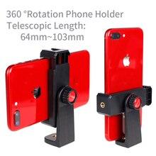 XILETU 360 degrés Smartphone trépied montage pince Support Vertical et Horizontal vidéo prise de vue pour iPhone X Samsung One plus Mobile