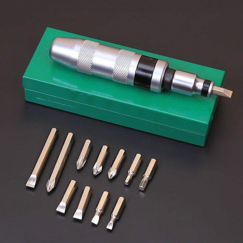 Chave de fenda de impacto profissional portátil conjunto de chave de fenda para afrouxar parafusos congelados e fixadores teimosos com alça antiderrapante