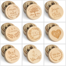 Custom Ring Box Personalized Wedding Valentines Engagement Wooden Bearer Jewelry Boxes