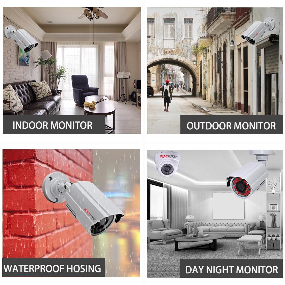 lowest price 4CH DVR CCTV System 2PCS Cameras 1080P 2MP Video Surveillance 4CH 5 in 1 DVR Infrared AHD 1200 TVcctv camera security system kit