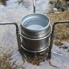 Taşınabilir paslanmaz çelik hafif odun sobası alkol soba brülör açık pişirme piknik barbekü kamp ocağı standı