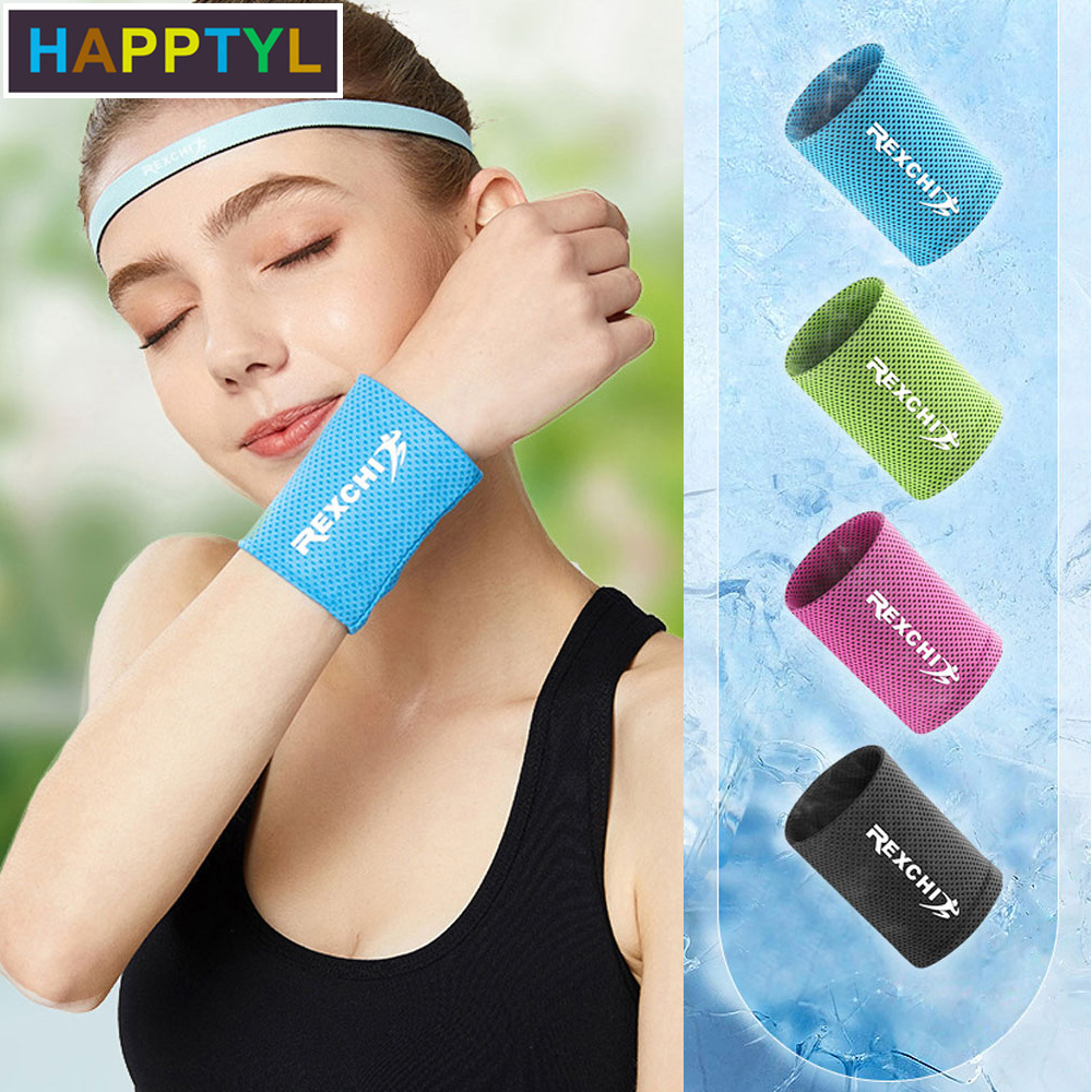 HAPPTYL 1Pcs Sports Reflective Wrist Wraps Multi Color Sports Wristbands For Basketball Leagues