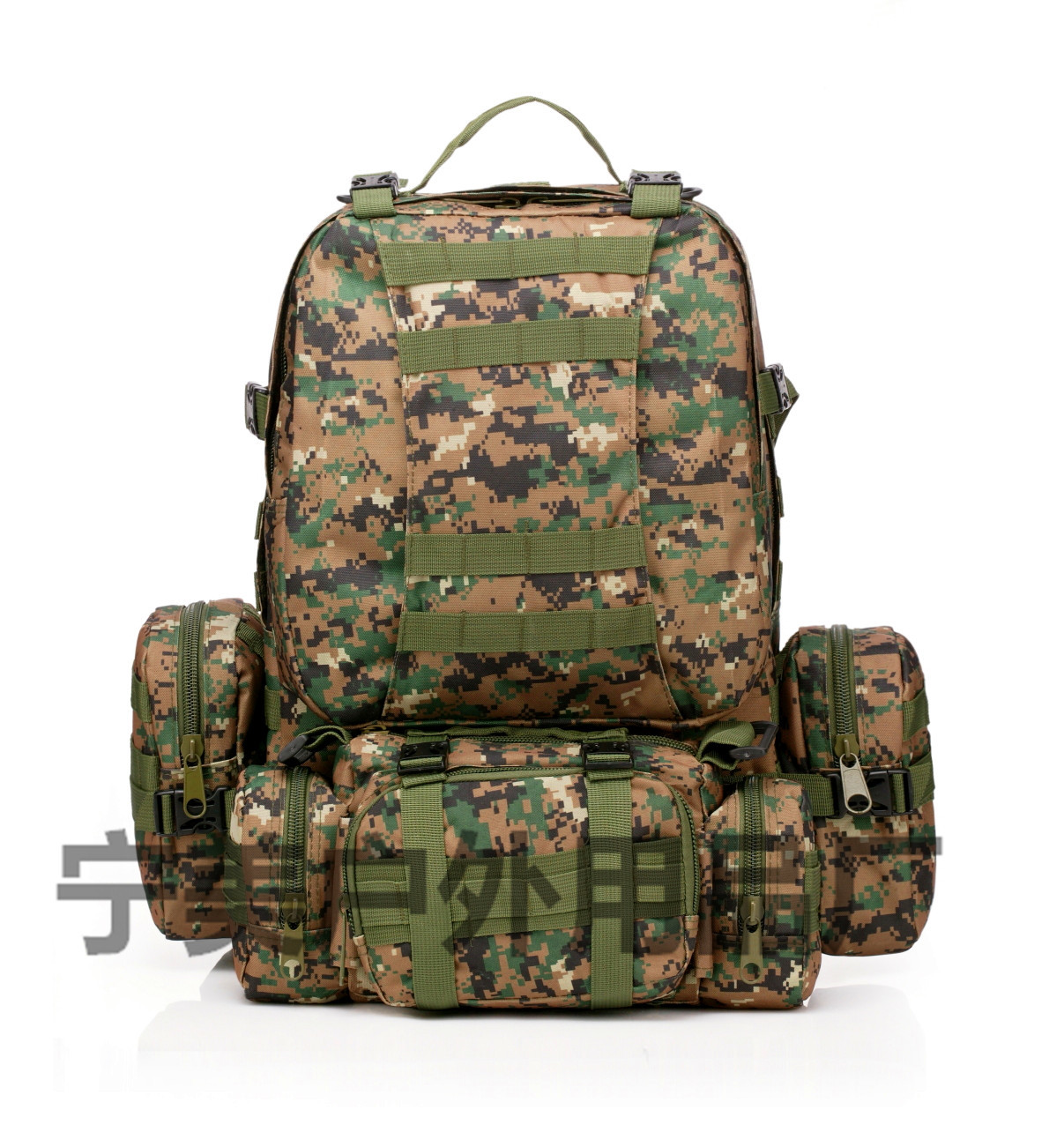 Men Camping Travel Bag Oxford Cloth Outdoor Backpack Army Camouflage Hiking Tactical Bag Mountain Climbing Large Combination Bac