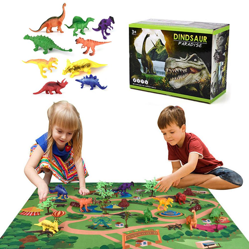 Dinosaur Toys With Play Mat Kids Dinosaur Toys Set Children Play Kit Educational Gift Toys Play Mat For Boys Girls