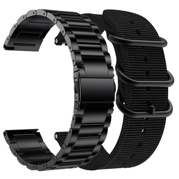 2 pack bands for amazfit gts bip band for galaxy watch 3 active 2 samsung gear s3 frontier 46 42mm huawei watch gt 2e band strap