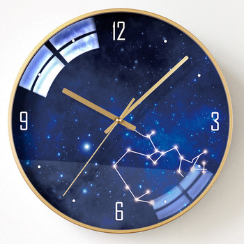 Luxury Silent Modern Design Wall Clock Electronic Galaxy Creative Wall Clock Acrylic Mirror Living Room Reloj Pared Home Decor